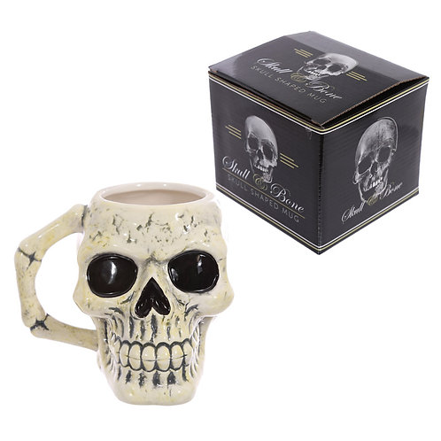Fantasy Skull Head Shaped Ceramic Mug Novelty Gift