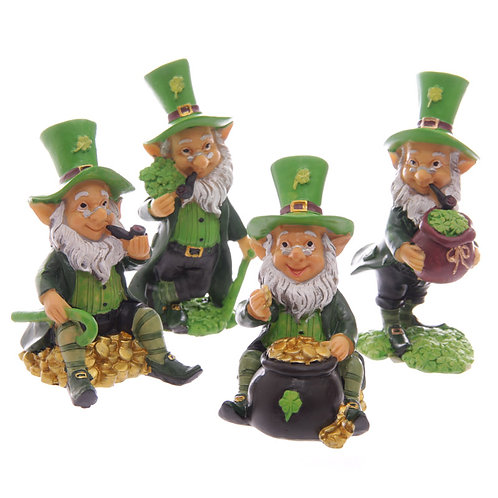 Fun Mini Collectable Leprechaun Figurines Novelty Gift