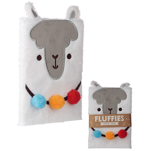 Fluffy Plush Notebook - Llama Design Novelty Gift