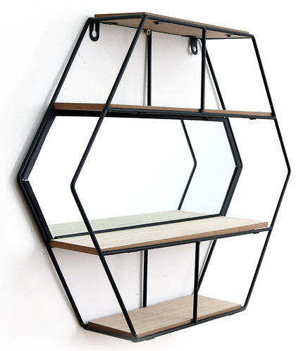 Hexagon Unit With Mirror & 3 Shelves Shipping furniture UK