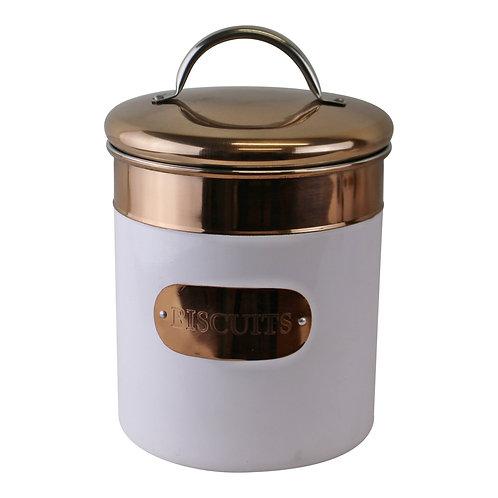 Biscuit Tin, Copper & White Metal Design Shipping furniture UK