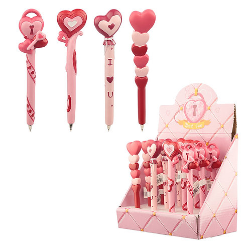 Cute Love Hearts Pen Novelty Gift [Pack of 2]