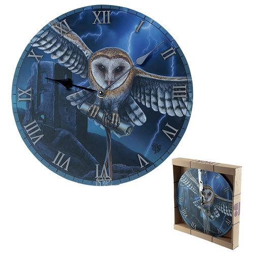 Decorative Fantasy Heart of the Storm Owl Wall Clock Novelty Gift