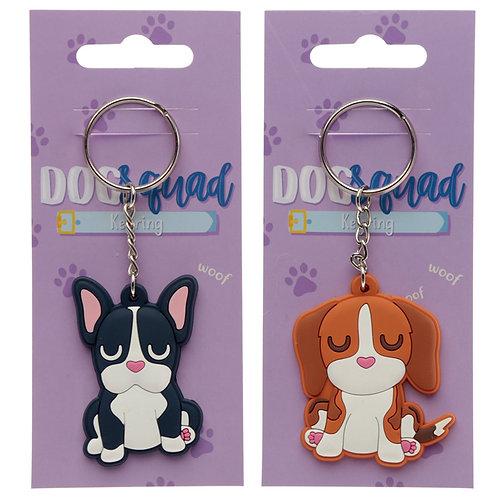 Cute Novelty Dog Squad PVC Keyring [Pack of 1] Novelty Gift
