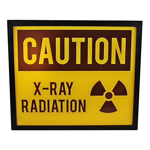 Decorative Lightbox, Caution X-Ray Radiation Shipping furniture UK