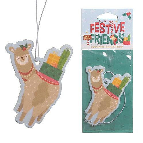 Apple Cinnamon Festive Friends Christmas Alpaca Air Freshener Novelty Gift