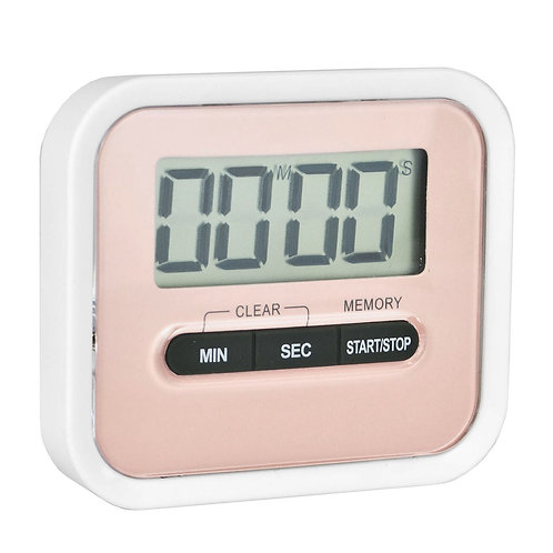 Magnetic Kitchen Timer - Pink | Home Essentials UK