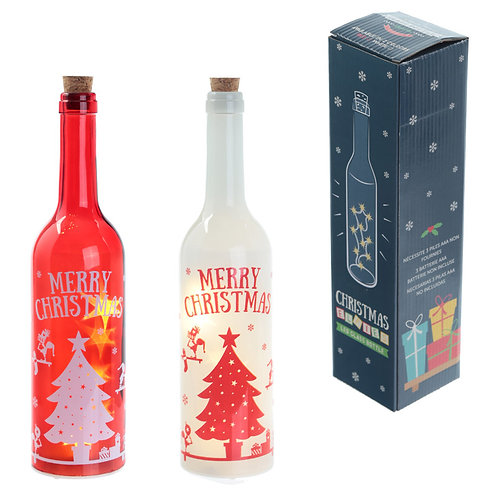 Decorative LED Glass Light Jar - Christmas Elf Novelty Gift