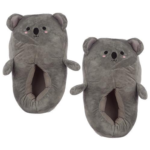 Cute Koala Unisex One Size Pair of Plush Slippers Novelty Gift
