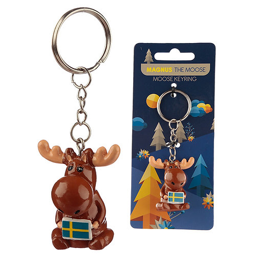 Fun Collectable Magnus the Moose Keyring Novelty Gift