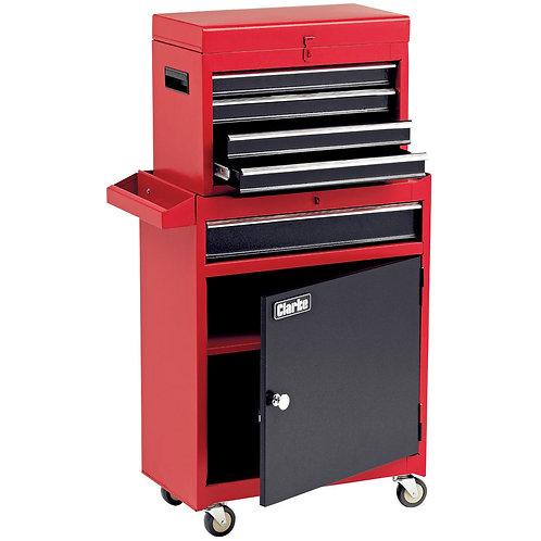 Clarke CTB5C 5 Drawer Combination Tool Chest & Cabinet Set   DIY Bargains