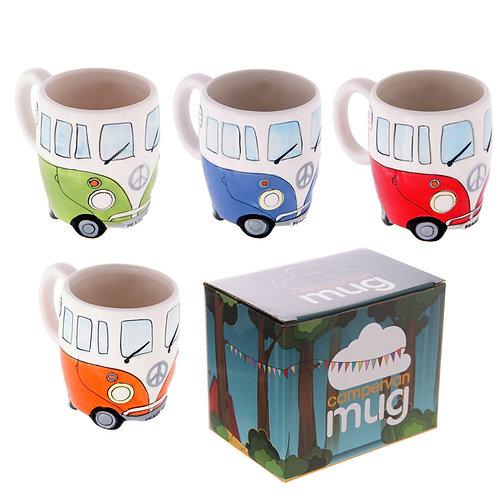 Funky Novelty Camper Van Design Ceramic Mug Novelty Gift