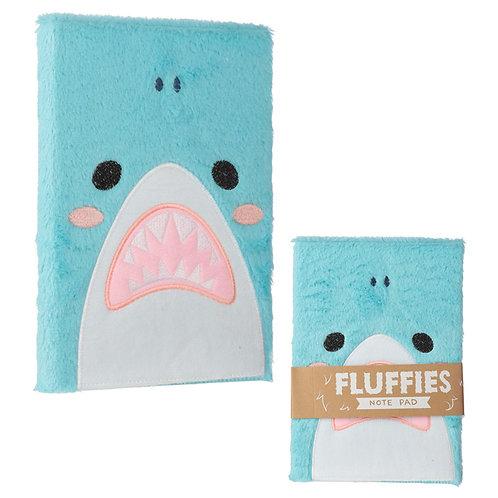 Fluffy Plush Notebook - Shark Design Novelty Gift