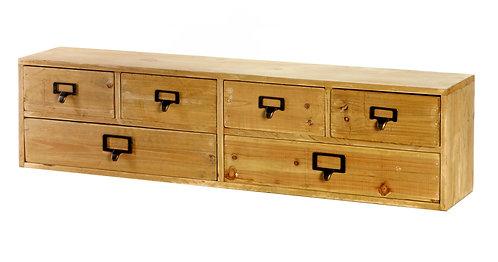 Wide 6 Drawers Wood Storage Organizer 80 x 15 x 20 cm Shipping furniture UK