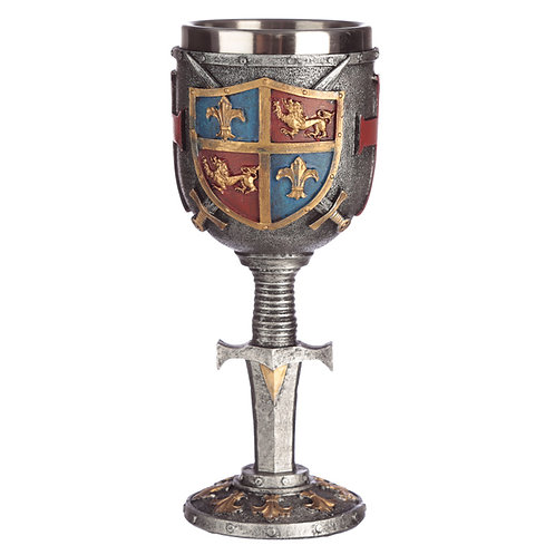 Collectable Decorative Coat of Arms Goblet Novelty Gift