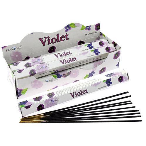 Stamford Hex Incense Sticks - Violet Novelty Gift
