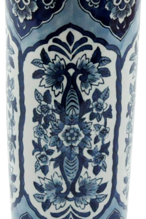 "Blue & White Pattern Umbrella Stand 18"" Shipping furniture UK"