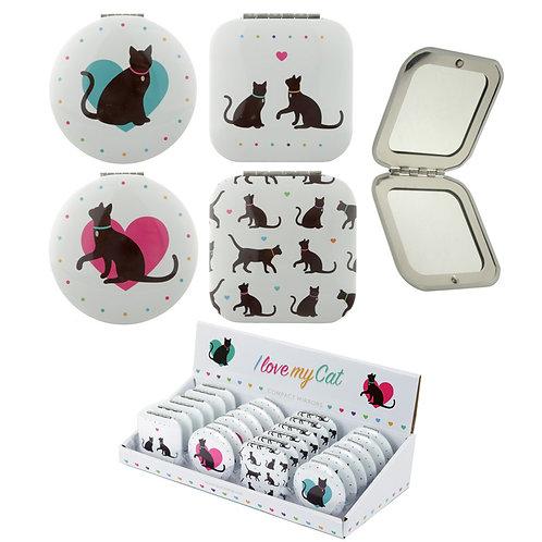 Novelty Gift Fun Cat Design Compact Mirror