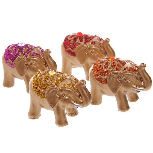 Novelty Gift Cute Mini Collectable Glitter Elephant