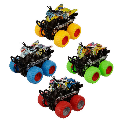 Fun Kids 4x4 Stunt Truck Toy  [Pack of 1] Novelty Gift