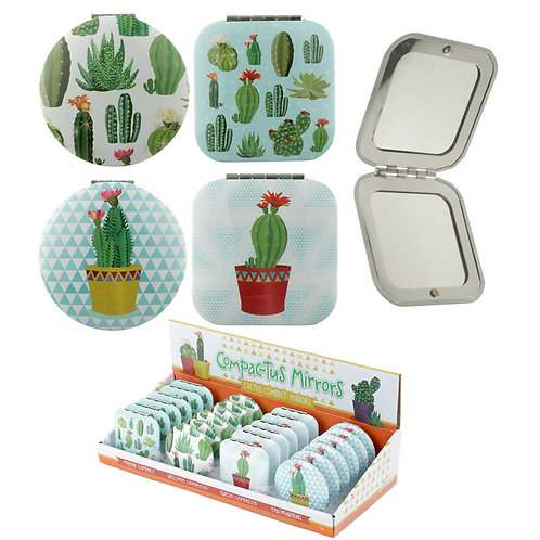 Funky Cactus Design Compact Mirror Novelty Gift
