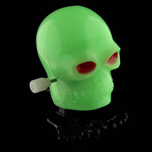 Fun Kids Wind Up Skull - Glow in the Dark Novelty Gift [Pack of 2]