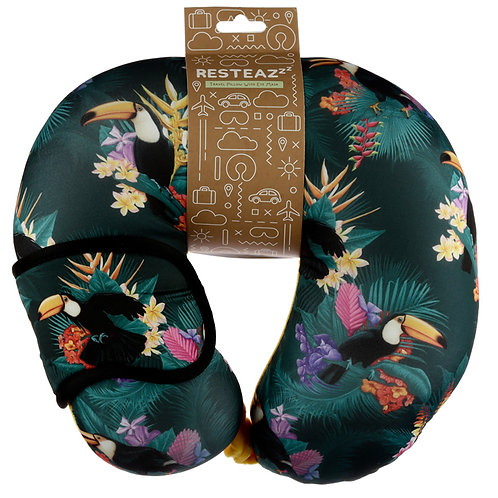 Toucan Party Relaxeazzz Travel Pillow & Eye Mask Set Novelty Gift