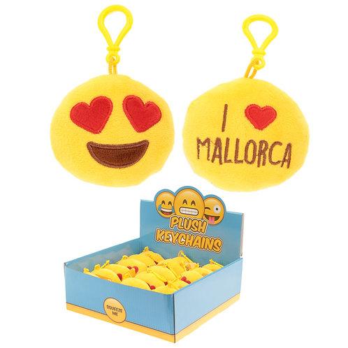 Plush Emotive Mallorca Sound Keyring with Plastic Loop Novelty Gift