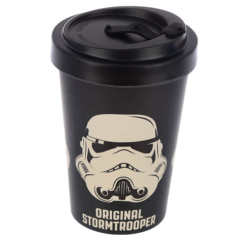 Bamboo Composite  Stormtrooper Black Screw Top Travel Mug Novelty Gift