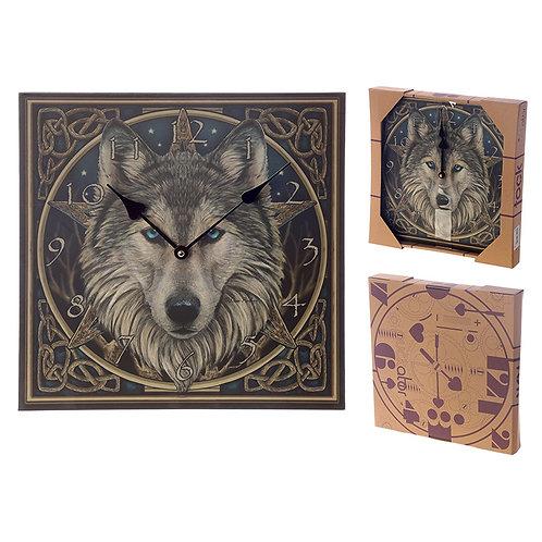 Fantasy Celtic Wolf Head Design Decorative Wall Clock Novelty Gift