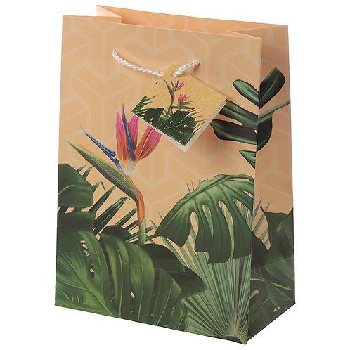 Novelty Gift Decorative Tropical Paradise Medium Gift Bag