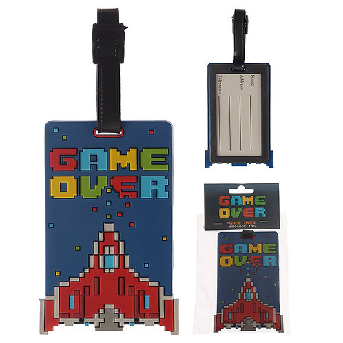 Novelty PVC Luggage Tag - Game Over Novelty Gift