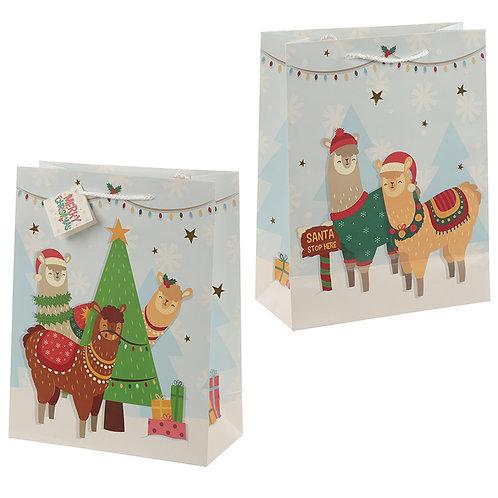 Dimensions: Height 37cm Width 12cm Depth 8cm Christmas Festive Friends Animal Design Bottle Gift BagUnusual Gift Present Idea