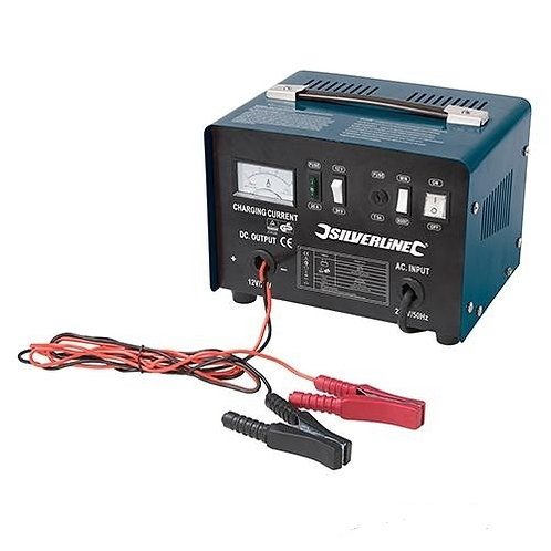 silverline Heavy duty Battery Charger 12/24V | DIY Bargains