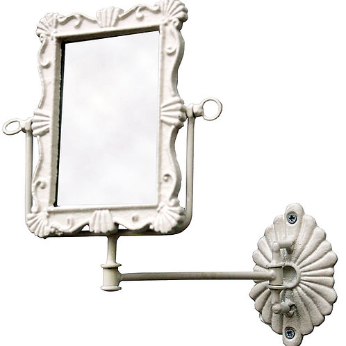 Antique White Rusty Wall Mirror Shipping furniture UK