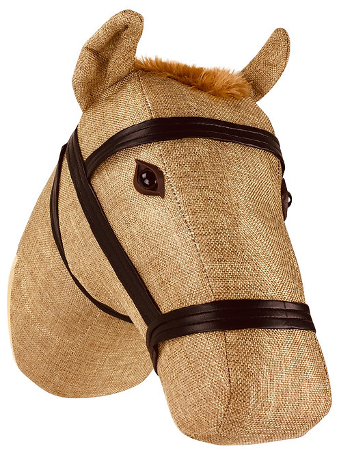Fabric Wall Mounted Horse Head 30cm Shipping furniture UK