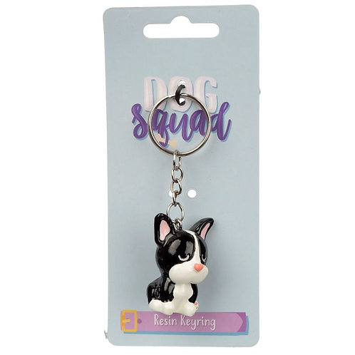 Collectable French Bulldog Dog Squad Keyring Novelty Gift