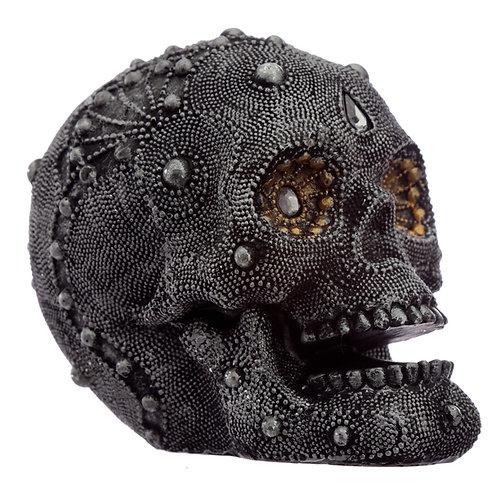 Fantasy Beaded Medium Skull Ornament [Pack of 1] Novelty Gift