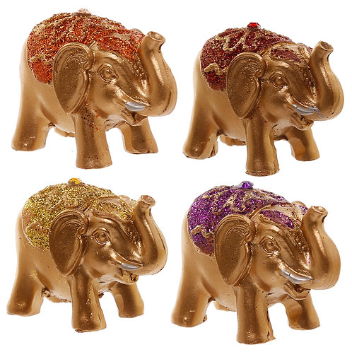 Cute Mini Collectable Glitter Elephant Novelty Gift