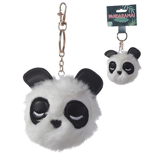 Fun Collectable Pom Pom Keyring - Panda Novelty Gift