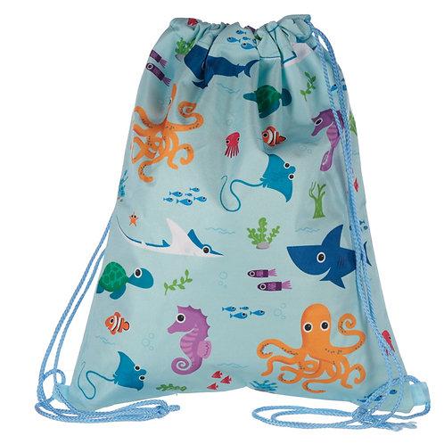 Handy Drawstring Bag - Fun Sealife Design Novelty Gift