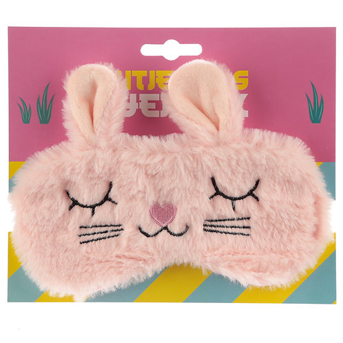 Fun Eye Mask - Plush Cutiemals Bunny Rabbit Novelty Gift