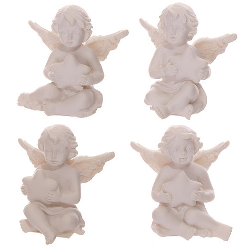 Novelty Gift Collectable Cherub Figurine Holding Star