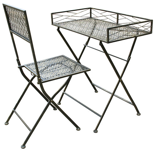 Folding Metal Desk And Chair Set Shipping furniture UK