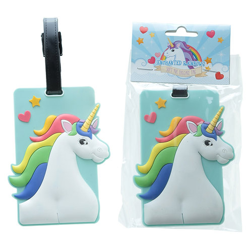 Novelty Gift Fun  Rainbow Unicorn Luggage Tag