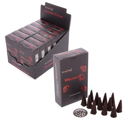Novelty Gift Stamford Black Incense Cones - Werewolfs Bite