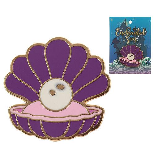 Cute Clam Shell Design Enamel Pin Badge Novelty Gift