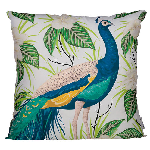 Cushion with Insert - Peacock Design 50 x 50cm Novelty Gift