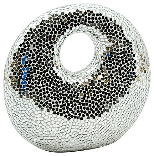 Silver Mosaic Ornament 50cm Shipping furniture UK