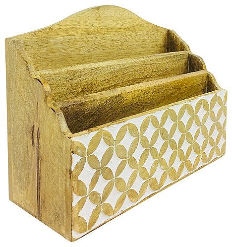 Wooden Letter Rack 31cm Shipping furniture UK
